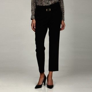 Calvin Klein Womens Tapered Trousers with Belt