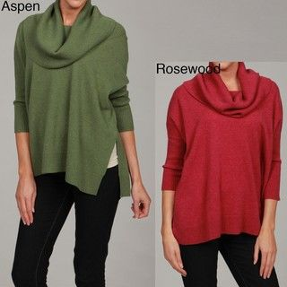 Cullen Womens Cashmere Cowl Neck Sweater
