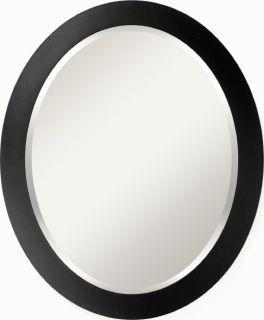 Meridian Black Beveled Mirror