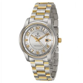 Bulova Mens Yellow Gold plated Steel Precisionist Watch