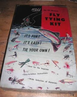 Vintage 1950s Noll No 151 Deluxe Fly Tying Kit Sports