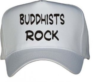 Buddhists Rock White Hat / Baseball Cap Clothing