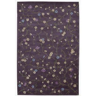 Hand tufted Julian Floral Purple Rug (36 x 56)