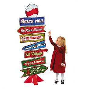 North Pole Directional Sign Toys & Games