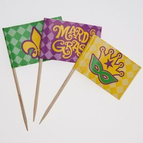 Mardi Gras Food Picks Toys & Games