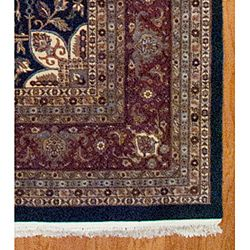 Indo Heriz Hand knotted Green/ Red Rug (1111 x 176)