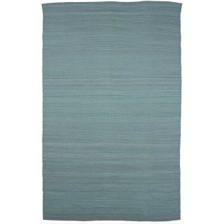 Flat Weave Solid Blue Wool Rug (8 x 10) Today $323.99 Sale $291.59
