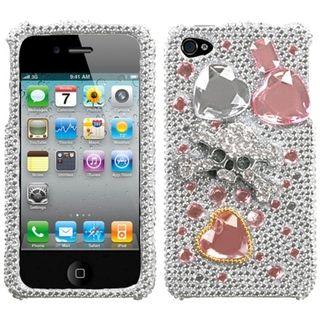 Premium Apple iPhone 4/4S Jewelry Box Skull 3D Rhinestone Case