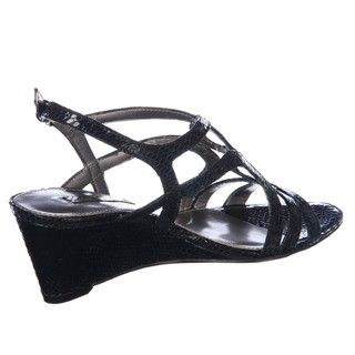 Bandolino Womens Oldandnew Black Wedge Sandals
