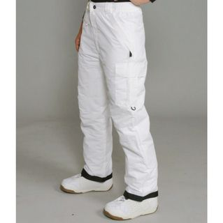 Pulse Womens White Cargo Snowboard Pants