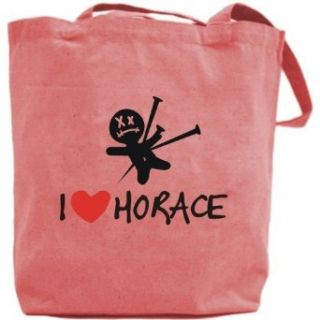 Canvas Tote Bag Pink  I Love Horace  Name Clothing