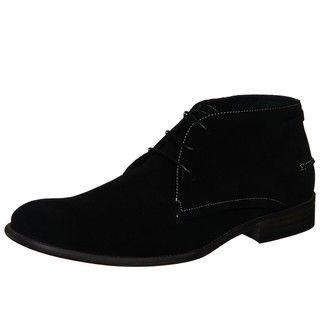 Steve Madden Mens Brentt Black Suede Chukka Boots