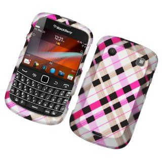 Bold Touch Rubber 2D Case Check Pink Brown Black 153