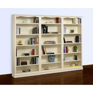 Cape 3 piece 84 inch Pearl White Bookcase Wall