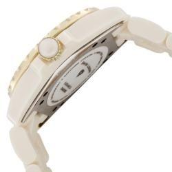 Swiss Legend Womens Karamica Beige High tech Ceramic Diamond Watch