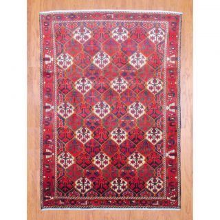 Persian Hand knotted Bakhtiari Red/ Black Wool Rug (68 x 94) Was $