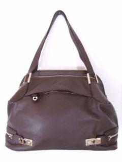 BESSO Brown Leather Luxury Italian Tote Bag Handbag Purse