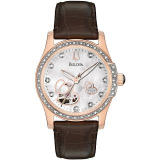 Bulova 98R139 Womens Rose Gold Tone Stainless Steel Automatic