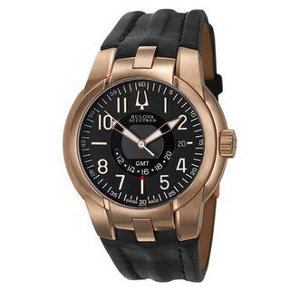 Bulova Accutron Mens Eagle Pilot Rose Goldplated Swiss Quartz Watch