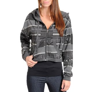 24/7 Frenzy Juniors Grey Graphic Hoodie Jacket