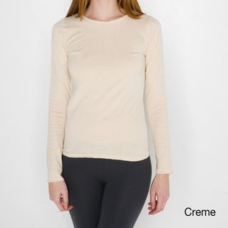 American Apparel Womens Sheer Jersey Long Sleeve T shirt