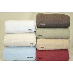 Grand Hotel Machine washable 100 percent Cotton Blanket