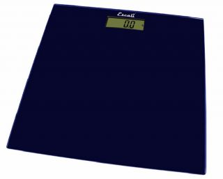 Escali B180SMB Midnight Blue Glass Platform Bathroom Scale