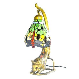 Tiffany Style Table Lamp Leopard   Now Home
