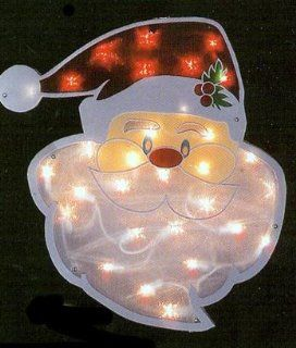 Christmas Santa Claus Window Light In/ Outdoor Double
