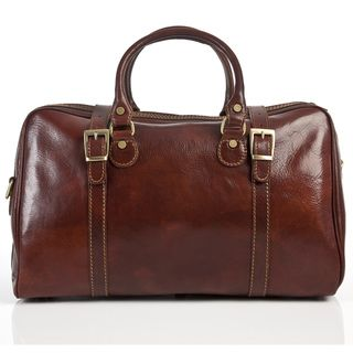 Alberto Bellucci Berliner Leather Travel Duffle Bag