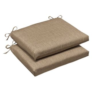 Pillow Perfect Outdoor Tan Textured Seat Cushions with Sunbrella