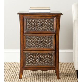 Safavieh Clarence Dark Brown Night Stand
