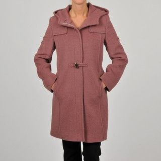 Hilary Radley Collection Womens Brick Toggle Coat