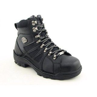 Davidson Mens Broadmoor 6 Inch ST Hiker Black Leather Boots 9.5 Shoes