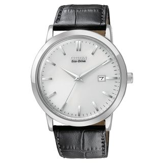 Citizen Mens Stainless Steel Eco Drive Date Watch