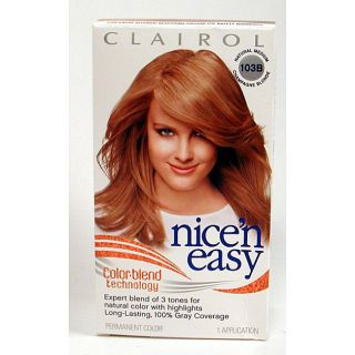 Nicen Easy #103B Medium Champagne Blonde Hair Color (Pack of 4