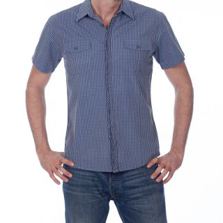 191 Unlimited Mens Blue Gingham Shirt