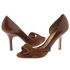 Nine West Chitty Light Brown/Dark Brown Distressed Leather