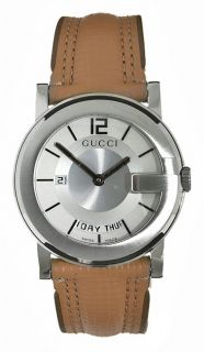 Gucci 101 G Mens Silver Dial Luxury Watch