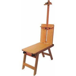 Martin Rolling Wooden Bench Style Mobile Artist Easel