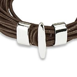 Brown Leather Multi cord Bracelet