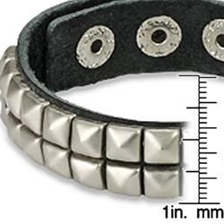 Punk Studded Leather Snap Strap Bracelet