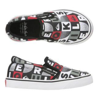QUIKSILVER Slip on Little Foundation Enfant Noir, blanc, gris et rouge