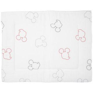 Anel Tapis de sol 80 x 100 cm éponge Mickey Mouse blanc / anthracite
