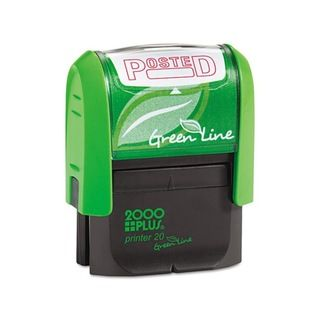 2000 PLUS Green Line Posted Message Stamp (Red)