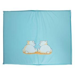 Bebe jou Tapis de parc 80 x 100 cm Pompon turquoise   Tapis de parc de