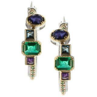 Michael Valitutti Two tone Multi Gemstone Earrings Today $160.99
