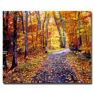 David Lloyd Glover Leaf Covered Road Canvas Art