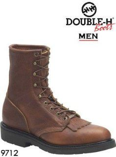 Double H Boots 8 Work Lacer 9712 Shoes
