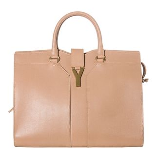 Yves Saint Laurent Cabas ChYc Peach Textured Leather Tote Bag